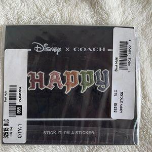 NWT Coach x Disney Happy sticker